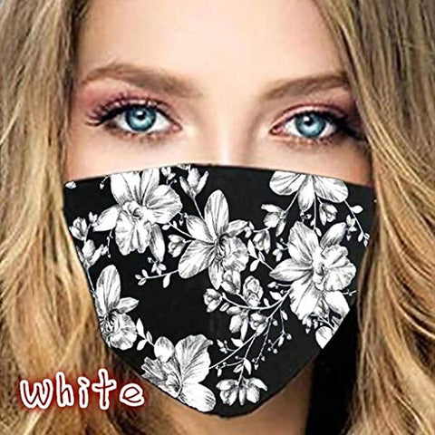 Sagton ?Shipping from US!!!? Reusable Washable Face_Masks Anti-dust Floral Printing for Man and Women Outdoor Windproof Adjustable Protective Mouth_Shields