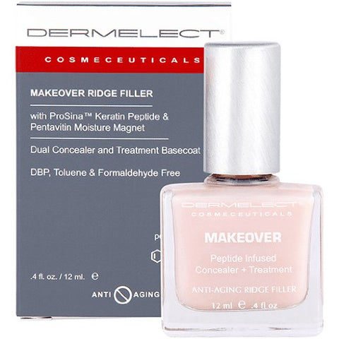 Dermelect Cosmeceuticals Makeover Ridge Filler Base Coat   Conceal And Fill In Unsightly Nail Ridges