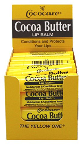 Cococare Cocoa Butter Lip Balm 0.15oz (24 Pieces)