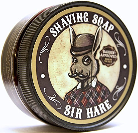 Premium Shaving Soap For Men By Sir Hare   Barbershop Fragrance   Shave Soap That Smells Great And P