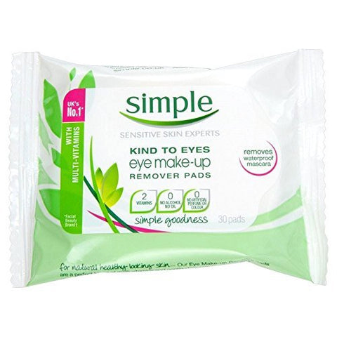 Simple Kind to Eyes Eye Make-Up Remover Pads (30) - Pack of 2 by Simple