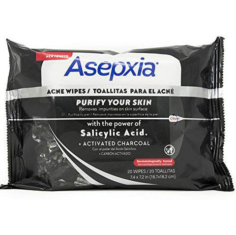 New Asepxia Charcoal Wipes X 20