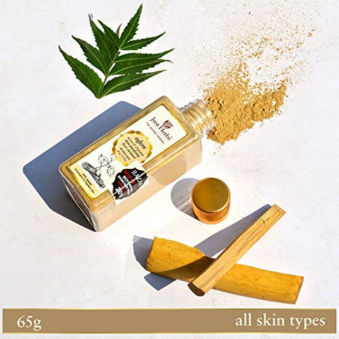 Just Herbs Aglow Neem-Chandan Skin Purifying Face Cleanser, Brown, 65g