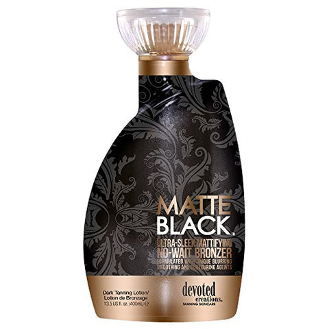 Matte Black, Ultra Sleek, No Wait Tanning Bronzer Lotion 13.5 Ounce