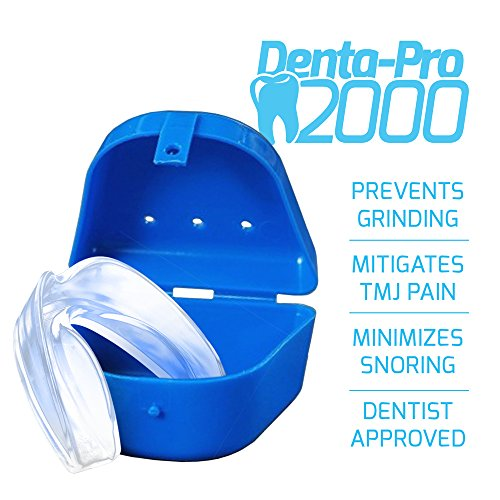 DentaPro2000 Teeth Grinding Mouth Guard Eliminates Grinding, Clenching, TMJ Set Includes 3 Dental Gu