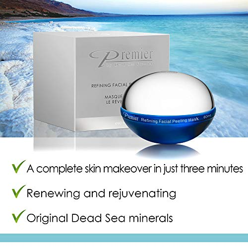 Premier Dead Sea Classic Refining Facial Peeling Mask, Soft And Gentle On Skin, Deep Cleans, Removes
