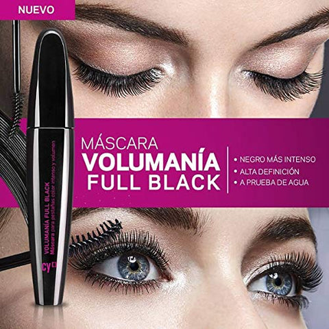 Cyzone Cy Volumania Full Black for Fuller, Thicker, Voluminous and Well-Defined Eyelashes,