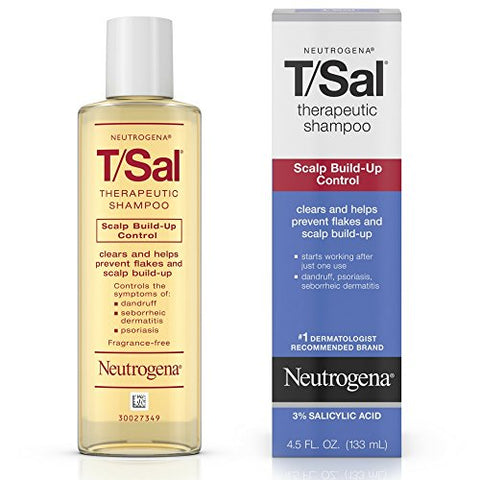 Neutrogena T/Sal Therapeutic Maximum Strength Shampoo 4.50 oz (Pack of 5)