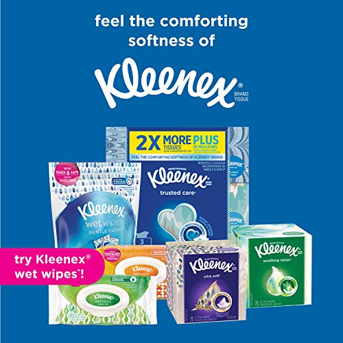 Kleenex Lotion Facial Tissues With Aloe & Vitamin E, Cube Box, 75 Count Per Cube Box, Pack Of 18, (7