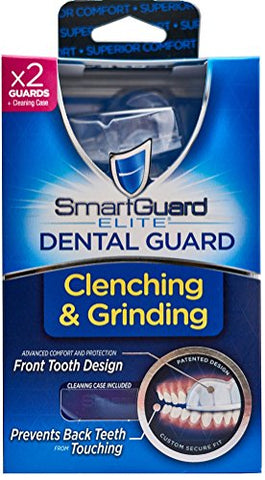 Dental Guard Smartguard Elite (2 Guards 1 Travel Case) Front Tooth Custom Anti Teeth Grinding Night