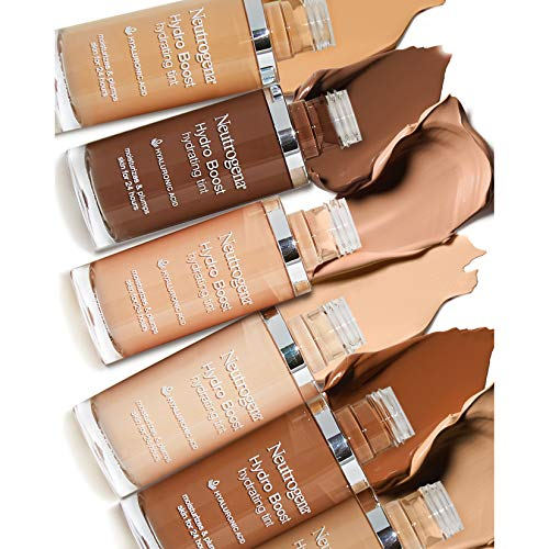 Neutrogena Hydro Boost Hydrating Tint with Hyaluronic Acid, Lightweight Water Gel Formula, Moisturizing, Oil-Free & Non-Comedogenic Liquid Foundation Makeup, 40 Nude Color, 1.0 fl. oz