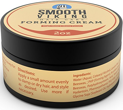 Smooth Viking Forming Cream For Men, High Hold And Matte Finish, For Short And Long Hair Types, 2 Ou