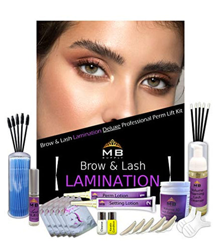 MB Supply Deluxe Eyelash Eyebrow Lamination Keratin Perm Kit, Lift Kit, Professional Lash & Brow Lift, Lash Curling, Semi Permanent Curling Lifting USA
