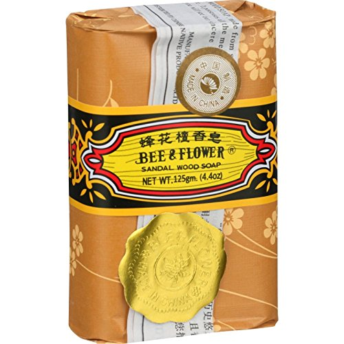 Bee And Flower Sandalwood Bar Soap, 4.4 Ounce - 4 per case.