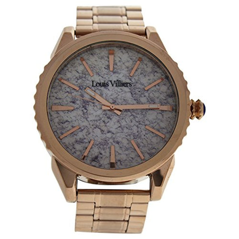 Louis Villiers Unisex-Adult Analogue Classic Quartz Watch with Stainless Steel Strap LV2064