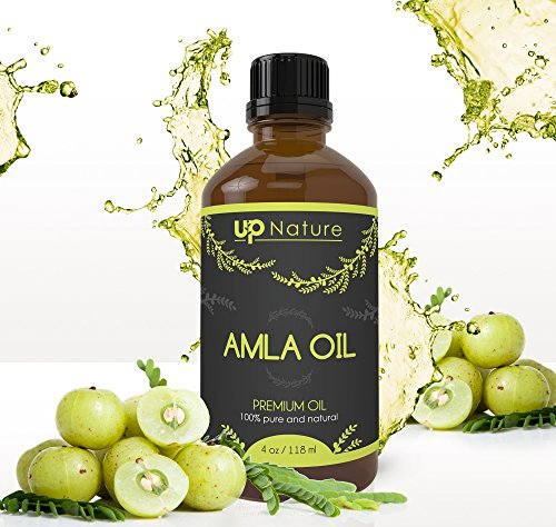 Amla Essential Oil - Promotes Hair Growth - Pure, Unrefined, Non-GMO - Great For Skin - Anti-aging - Treatment For Itchy Scalp, Prevents Dandruff - With Dropper (4 oz.) by UpNature