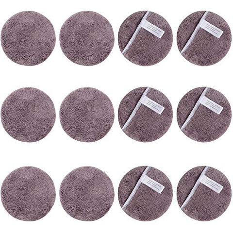 Sunland Reusable Makeup Remover Pads For Face,Eye,Lips 12 Pack Microfiber Face Cleansing Gloves Washable Makeup Removal Cloth With Laundry Bag Rounds Pads