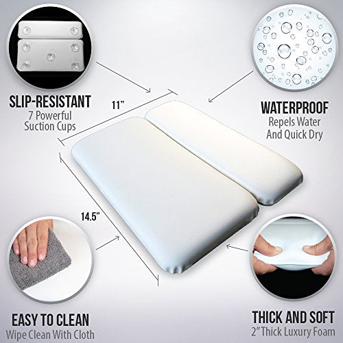 Gorilla Grip Original Spa Bath Pillow Features Powerful Gripping Technology, Comfortable, Soft, Larg