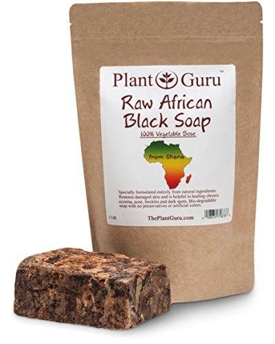 Raw African Black Soap 1 Lb. Bar From Ghana 100% Pure Natural Acne Treatment, Aids Eczema & Psoriasi