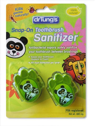Dr. Tung's Kid's Toothbrush Sanitizer, Kids, 2 Count - Assorted colors