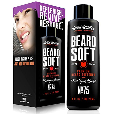 Wild Willie's Beard Conditioner and Softener For Men. All natural beard care treatment, filled with organic essential oils to leave your beard clean and hydrated. Amazing moisturizer made in the USA.