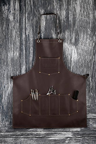 Facãƒâ³n Professional Leather Hair Cutting Hairdressing Barber Apron Cape For Salon Hairstylist   Mu