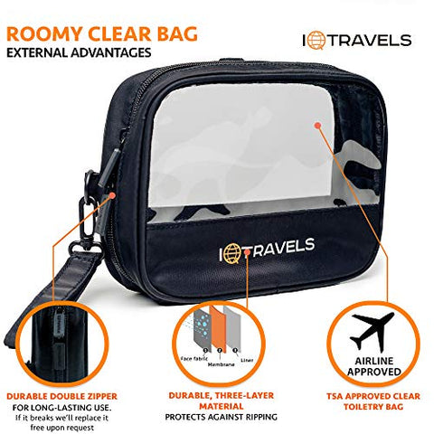 Tsa Approved Toiletry Bag   Small Clear Toiletry Bag   Travel Size Toiletries Clear Bag   Clear Trav