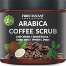 Image of 100% Natural Arabica Coffee Scrub with Organic Coffee, Coconut and Shea Butter - Best Acne, Anti Cellulite and Stretch Mark treatment, Spider Vein Therapy for Varicose Veins & Eczema (12 oz)