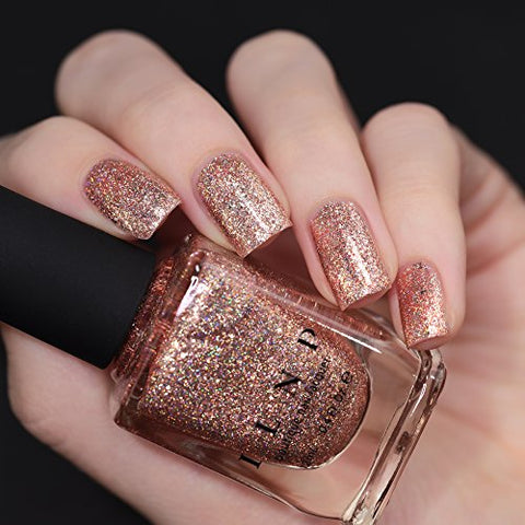 ILNP Juliette Holographic Nail Polish, Rose Gold