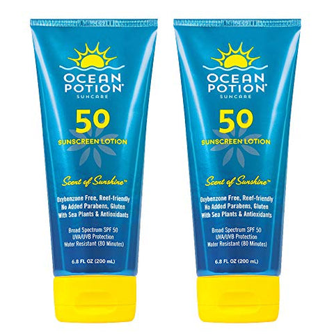 Ocean Potion Sunscreen Lotion SPF 50 - Scent of Sunshine - 6.8 Ounces 2 Pack