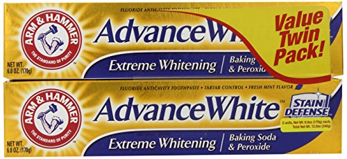 Arm & Hammer Advance White Extreme Whitening With Stain Defense, Fresh Mint, 6 Oz Twin Pack (Packagi