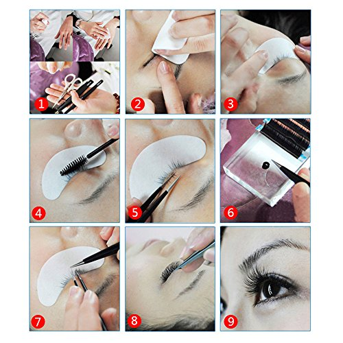 Teenitor Under Eye Pads, Lint Free Lash Extension Eye Gel Patches for Eyelash Extension Eye Mask Bea