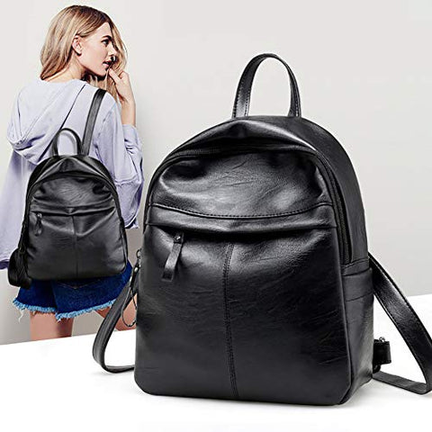 Thanksgiving Christmas gift-Leisure Faux Leather Large Capacity Adjustable Straps Woman Travel Bag Backpack
