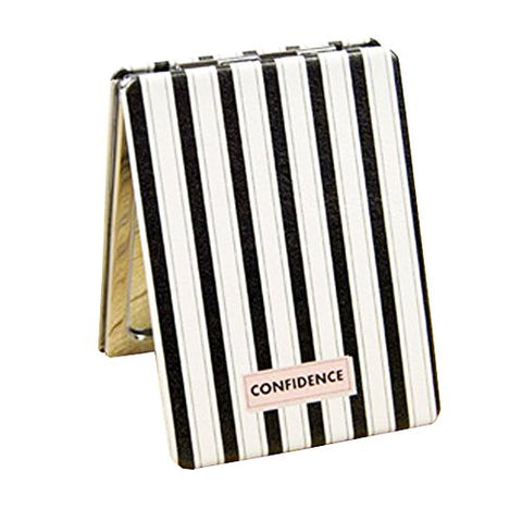 Pretty Portable Folding Makeup Cosmetic Travel Pocket Compact Mirror, Striped