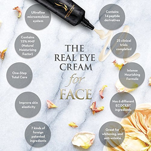 A.H.C. The Real Eye Cream For Face - Premium Korean Skin Care - Anti Aging and Wrinkle with Moisturizer