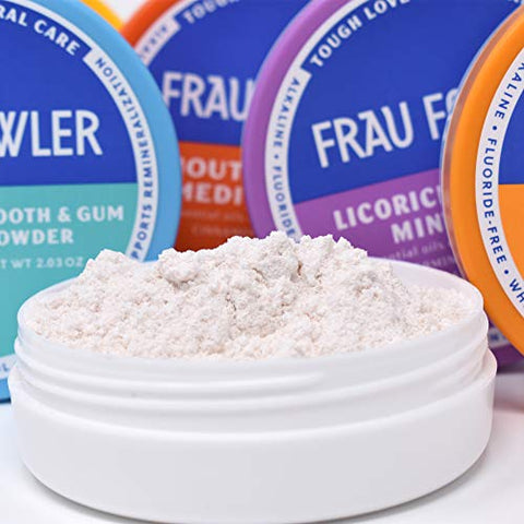 Frau Fowler Natural Oral Care   Mouth Medic Tooth Powder, 2 Pack, Botanically Clean, Teeth Whitening