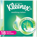Image of Kleenex Lotion Facial Tissues With Aloe & Vitamin E, Cube Box, 75 Count Per Cube Box, Pack Of 18, (7