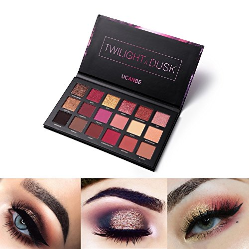 UCANBE 18 Colors Eyeshadow Makeup Palette Highly Pigmented Matte Shimmer Blending Eyes Shadow Cream Powder Daily Cosmetics Pallte (02)