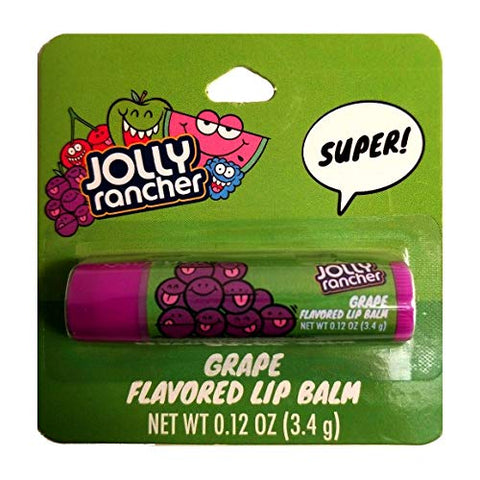 Taste Beauty (1) Stick Jolly Rancher Grape Candy Flavored Lip Balm Gluten Free - Purple Tube Carded - Net Wt. 0.12 oz