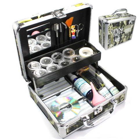 New Professional Eyelash Extension False Eye Lash Full Kit Set with Fashion Hard Case Suitcase A150