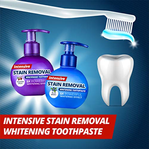 Lishiny Intensive Stain Remover Whitening Toothpaste Anti Bleeding Gums for Brushing Teeth (Blueberry)