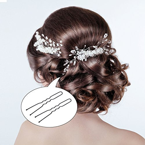 100 Pack Of Bun Hair Pins U Shaped Pins With Box And Storage Bag, Black Hair Pins (6 Cm)