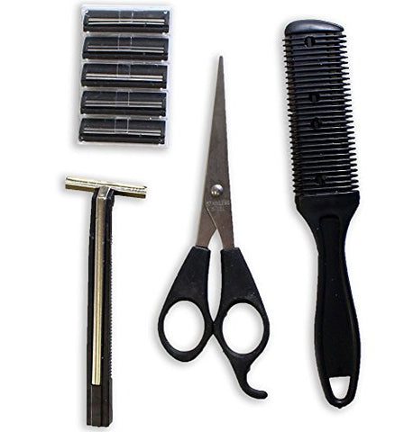 ToolUSA Traveler's Personal Hygiene Set For Cutting, Shaving And Trimming Hair: B8473-YX