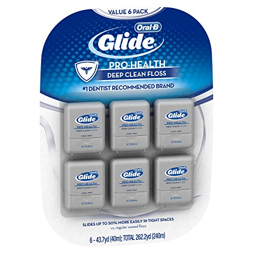 Glide Oral B Pro Health Deep Clean Floss, Mint, Pack Of 6