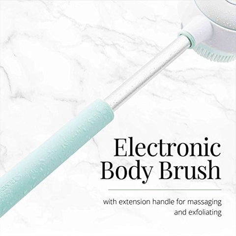 Remington Reveal Rechargeable Rotating Electronic Body Brush with 2 speeds and adjustable handle (BB1000B)