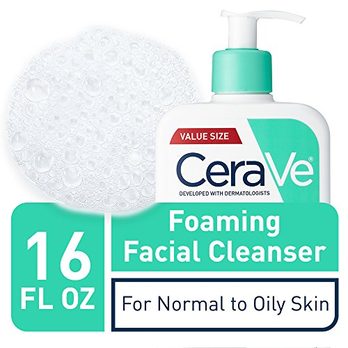 Cera Ve Foaming Facial Cleanser | 16 Fl Oz | Daily Face Wash For Oily Skin | Fragrance Free | Packagi