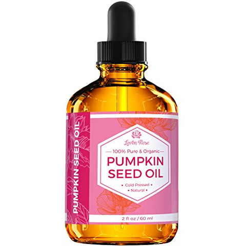 Pumpkin Seed Oil by Leven Rose, 100% Pure Natural for Hair Growth And Moisturizing Dry, Rough Skin 2 oz