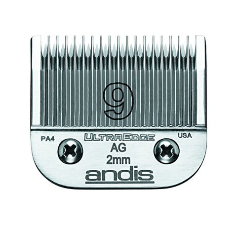 Andis Carbon-Infused Steel UltraEdge Dog Clipper Blade, Size-9, 5/64-Inch Cut Length (64120)
