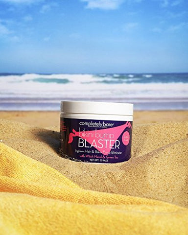 Completely Bare Bikini Bump Blaster Pads  All Natural Antioxidants, Witch Hazel & Green Tea Prevent