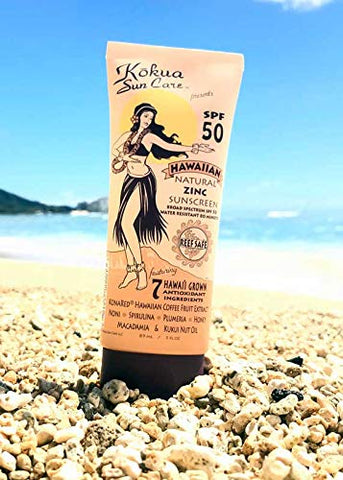 Kokua Sun Care Hawaiian Natural Zinc Sunscreen SPF 50/80 Minutes Water Resistance